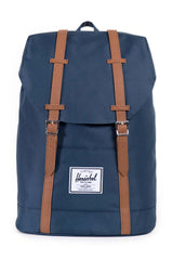 Herschel Supply Co. Retreat Backpack - Navy/Tan Synthetic Leather