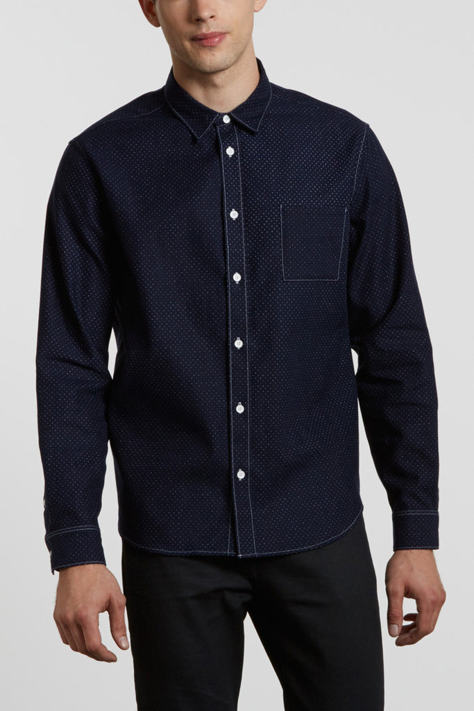 Levi's Made and Crafted Classic Shirt Indigo Polka Dot