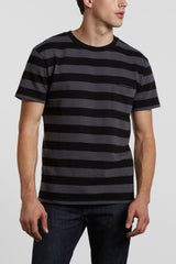 Levi's Made and Crafted Classic Tee Jacquard - Raven / Black Stripe