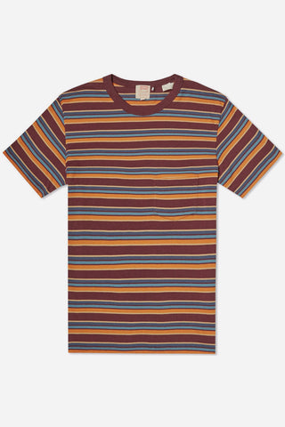 Levi's Vintage Clothing 1960s Striped Tee – Burgundy