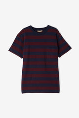Levi's Made and Crafted Classic Tee Jacquard - Tawny Port / Navy Courage stripe