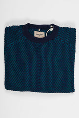 Levi's Made and Crafted Waffle Crew - True Blue