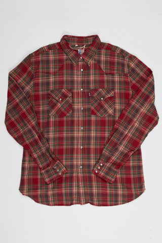 Levi's Vintage Clothing Western Shirt - Biking Red Check