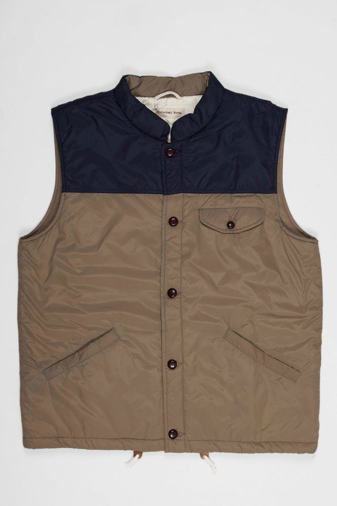 Universal Works Warm Gilet Nylon Sand