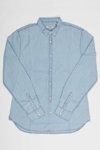 Levi's Made and Crafted Button Down Shirt - Blue Chambray Neeps