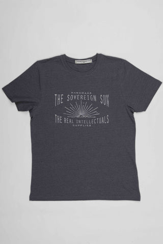 The Real Intellectuals Tee THE SOVEREIGN SUN - Melange Dark