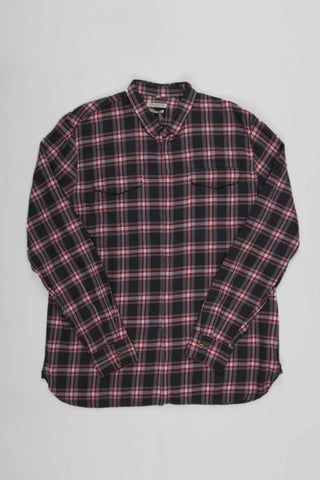 Levi's Made and Crafted A2 Army Shirt - Red Melange Check