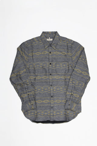 Levi's Made and Crafted One Pocket Shirt - Grey Mele Multi Stripe