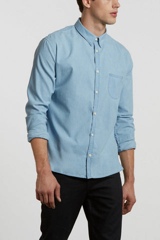 Levi's Made and Crafted One Pocket Shirt - Pale Blue Chambray