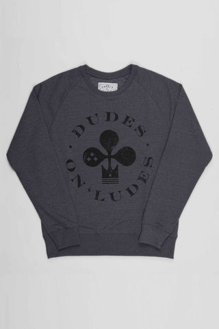 The Real Intellectuals Sweater DUDES ON 'LUDES - Dark Heather