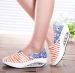 Spring 2021 one-legged lazy shoes set foot casual canvas shoes thick-soled rocking shoes women's single shoes - Viessestore