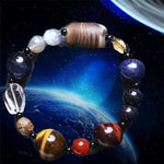 Universe Galaxy Star Bracelet 8 Planets Astronomical Solar System Tiger Eye Gem Stone Bracelet for Men or Women Healing Jewelry - Viessestore