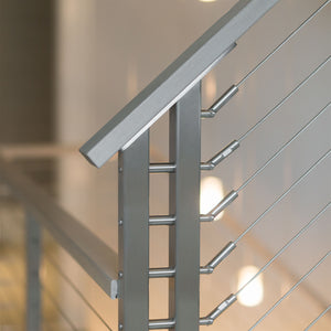 Stainless Stair Fitting With Screw - Keuka Cable