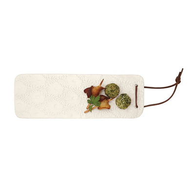 Pressed Stoneware Long Board - Bella Bea Boutique