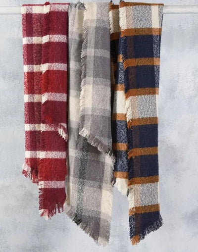 Fringe Plaid Scarf - Bella Bea Boutique