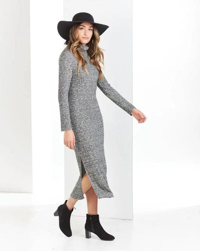 Frankie Turtleneck Midi Dress - Bella Bea Boutique