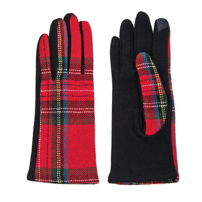 Tartan Gloves - Bella Bea Boutique