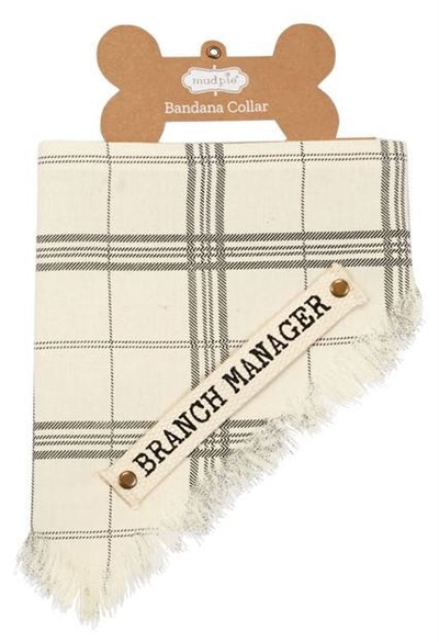 branch manager plaid dog bandana mud pie