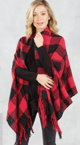 Buffalo Check Scarf Wrap - Bella Bea Boutique