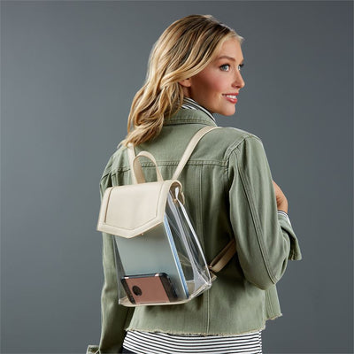clear stadium backpack nude mud pie