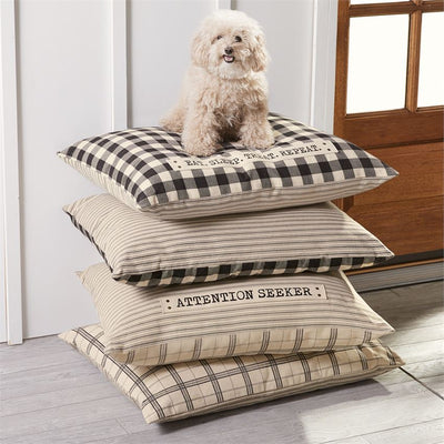 mud pie reversible dog bed pet plaid stripes