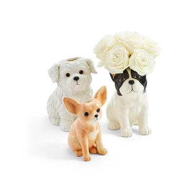 dog puppy vase planter westie chihuahua frenchie