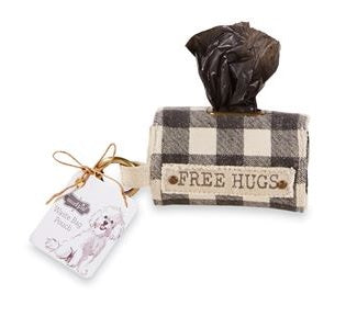 doggie bag pouch set dog free hugs mud pie