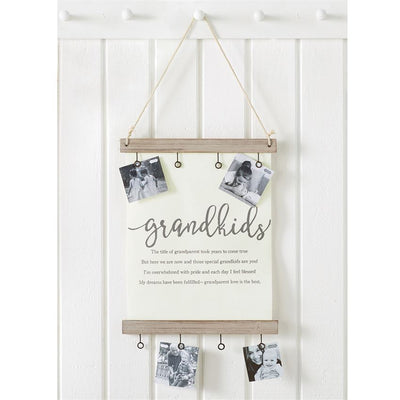 grandkids canvas clip frame mud pie