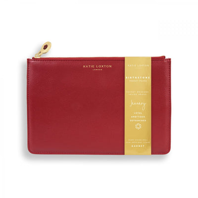 katie loxton birthstone perfect pouch january garnet