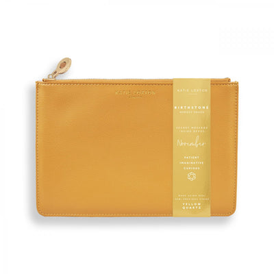 katie loxton birthstone perfect pouch november yellow quartz