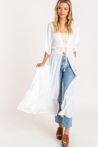 Andreia Lace Duster - Bella Bea Boutique