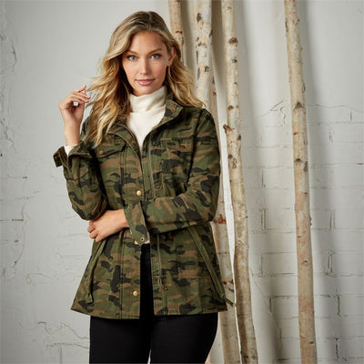 mud pie porter utility jacket camo