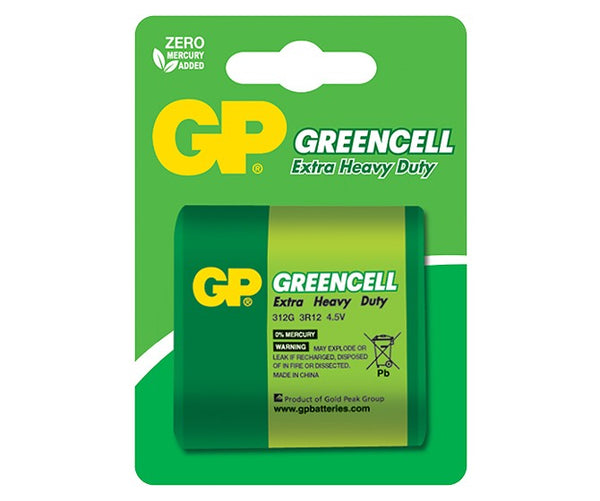 GP Greencell Carbon Zinc Lantern Batteries - 312