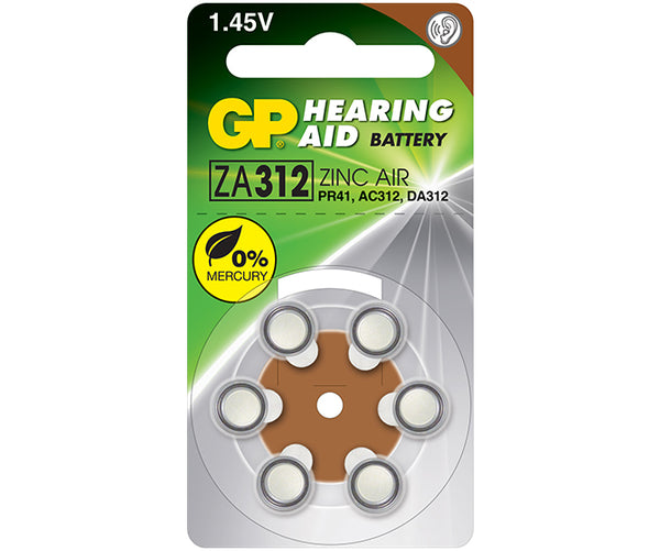 GP Hearing Aid Battery - ZA312F