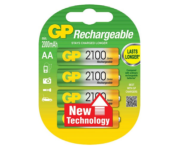GP Rechargeable NiMH 2100 Series AA 2000mAh