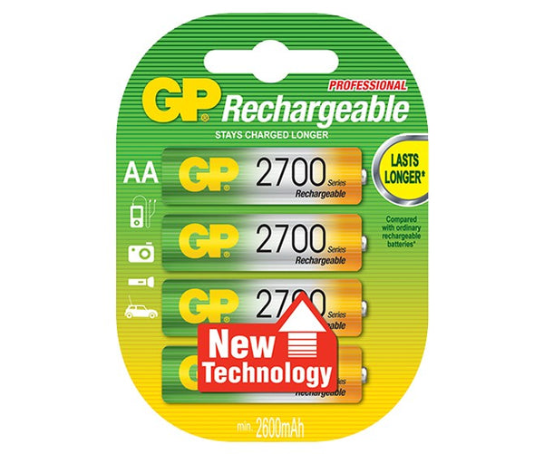 GP Rechargeable NiMH 2700 Series AA 2600mAh