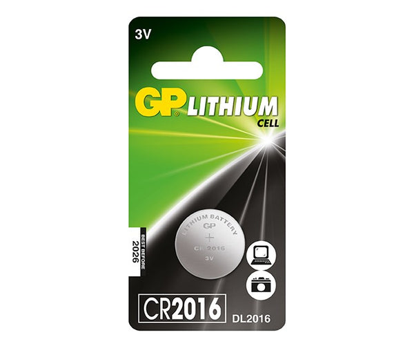 GP Lithium Cell Battery - CR2016