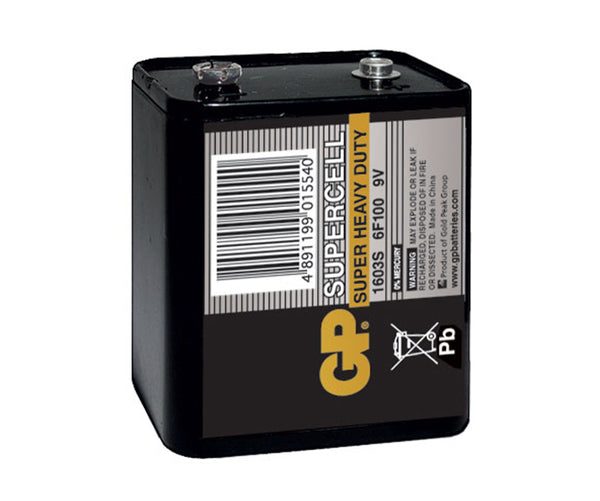 GP Supercell Carbon Zinc Lantern Batteries - 1603S