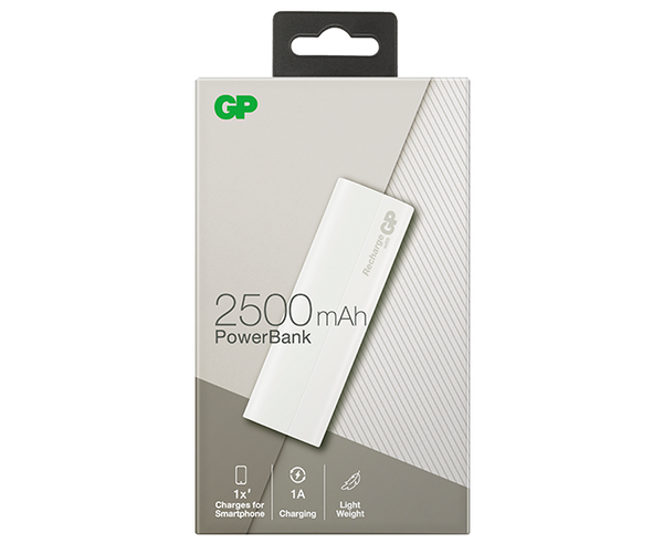B-Series PowerBank B02A 2500mAh – Shadow White