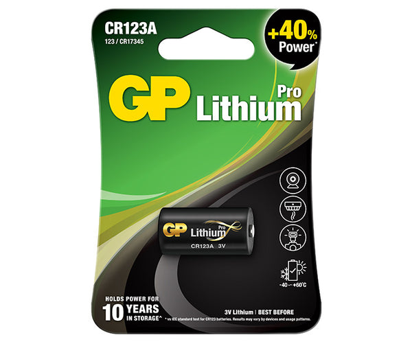GP Primary Lithium Pro- CR123A