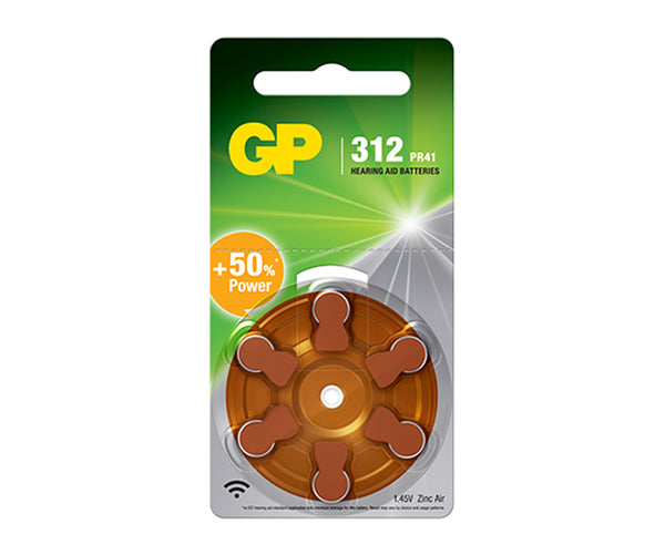 GP Hearing Aid Batteries ZA312