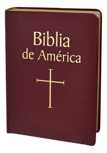 Biblia de America, Spanish Bible - Imitation Leather - A Lost Sheep Catholic Store