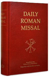 Daily Roman Missal w/ Devotions and Prayers, 3rd Ed., Large Print, Hardcover - A Lost Sheep Catholic Store