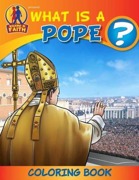 Coloring Book: What is a Pope? (Brother Francis) - A Lost Sheep Catholic Store