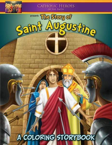 Coloring Storybook: The Story of Saint Augustine (Brother Francis) - A Lost Sheep Catholic Store