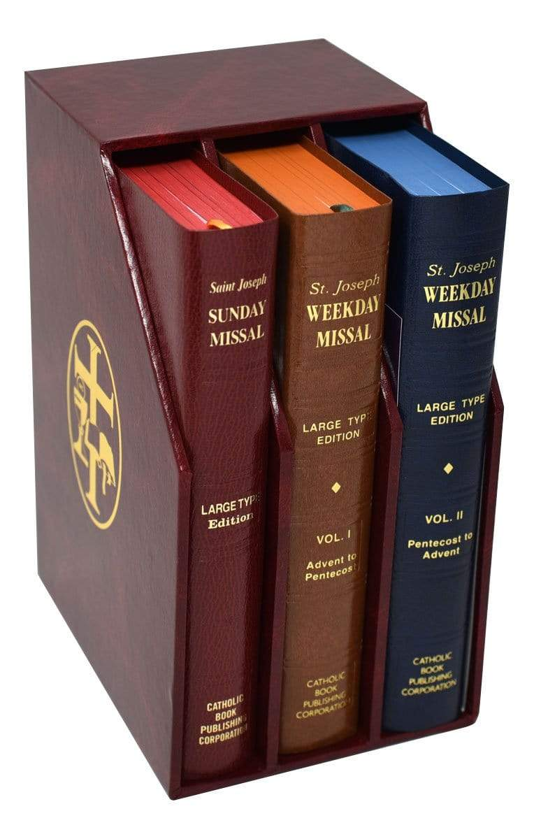 St. Joseph Daily and Sunday Missal (Large Type Editions) COMPLETE GIFT BOX 3-VOLUME SET