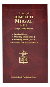 St. Joseph Daily and Sunday Missal (Large Type Editions) COMPLETE GIFT BOX 3-VOLUME SET - A Lost Sheep Catholic Store
