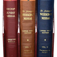 Catholic Book Publishing Corp Book St. Joseph Daily and Sunday Missal (Large Type Editions) COMPLETE GIFT BOX 3-VOLUME SET