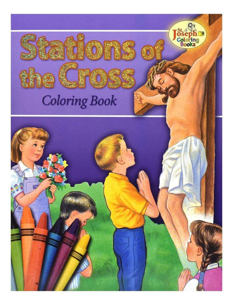 Coloring Book About The Stations Of The Cross - A Lost Sheep Catholic Store