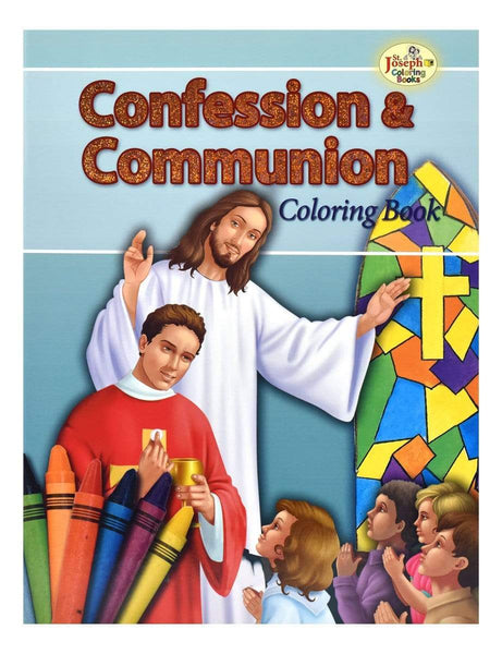 Confession & Communion Coloring Book - A Lost Sheep Catholic Store